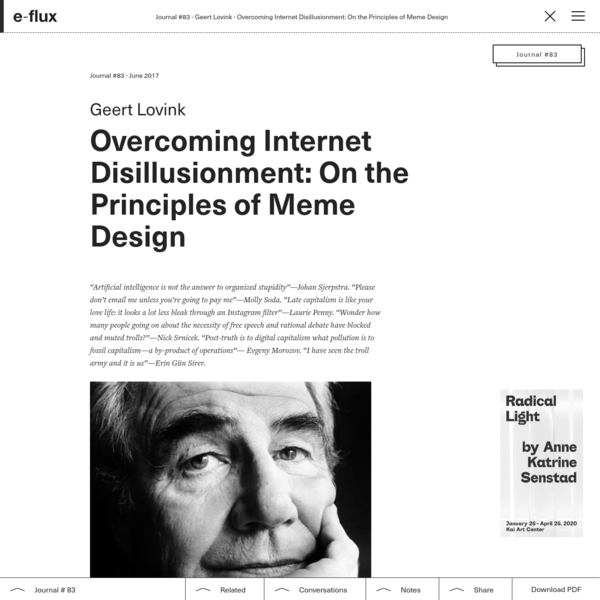Overcoming Internet Disillusionment: On the Principles of Meme Design