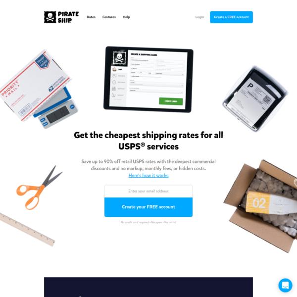 Free USPS shipping software   Pirate Ship