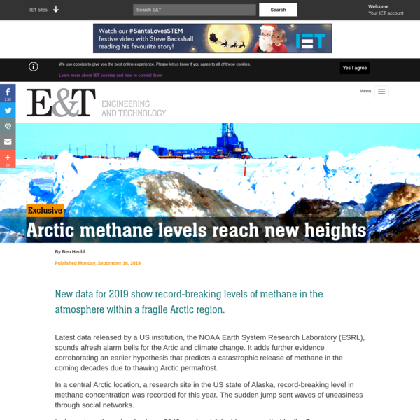 Arctic methane levels reach new heights