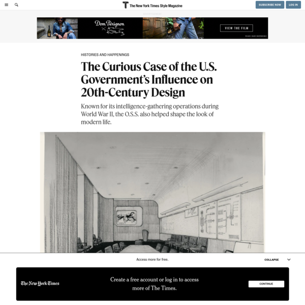 The Curious Case of the U.S. Government's Influence on 20th-Century Design