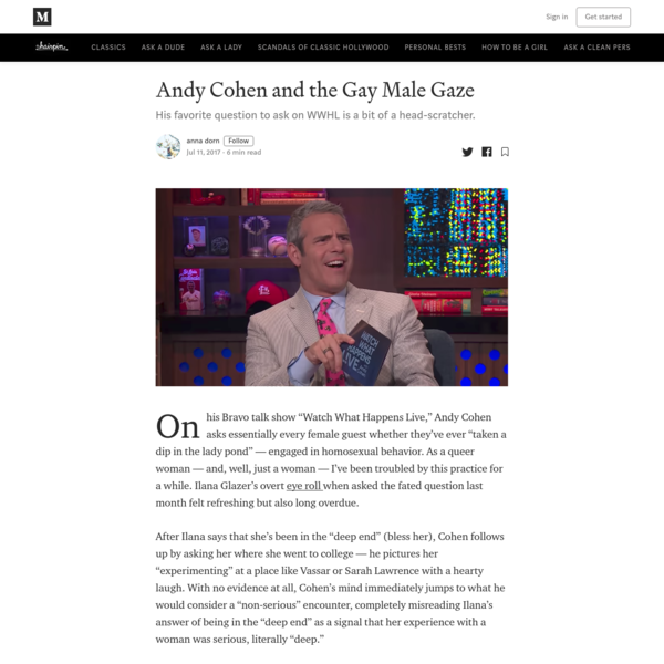 Andy Cohen and the Gay Male Gaze