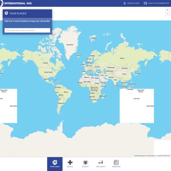 Travel Risk Map - International SOS