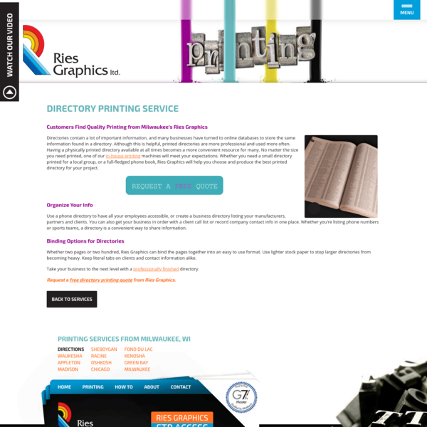 Directory Printing Milwaukee | Phone Book Printing Company Madison | Publisher Printers Chicago | Publishing Green Bay | Pri...