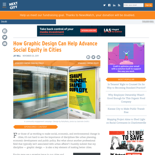 How Graphic Design Can Help Advance Social Equity in Cities