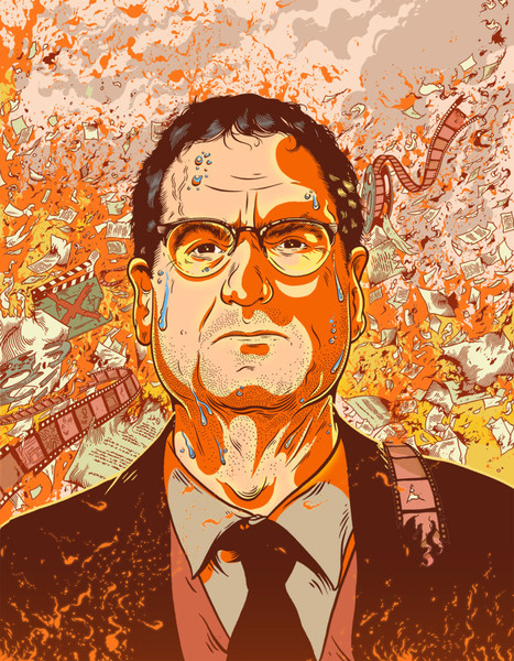 Illustrated Portrait of Tom Rothman, 2015, Tim McDonagh
