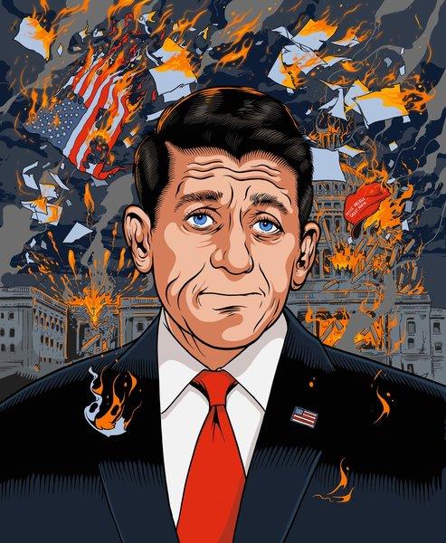 Illustrated Portrait of Paul Ryan, 2018, Tim McDonagh