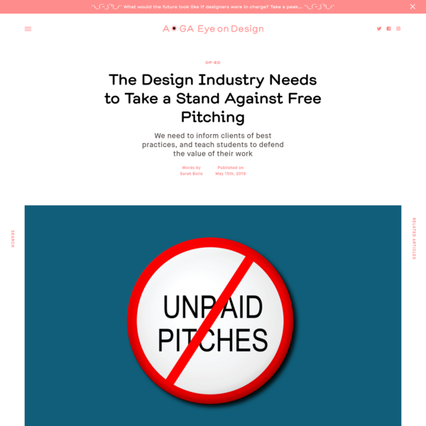 The Design Industry Needs to Take a Stand Against Free Pitching