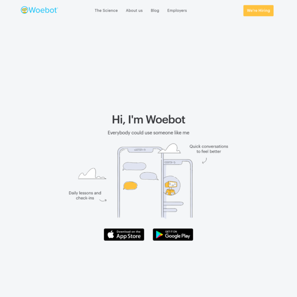 Woebot - Your charming robot friend who is here for you, 24/7