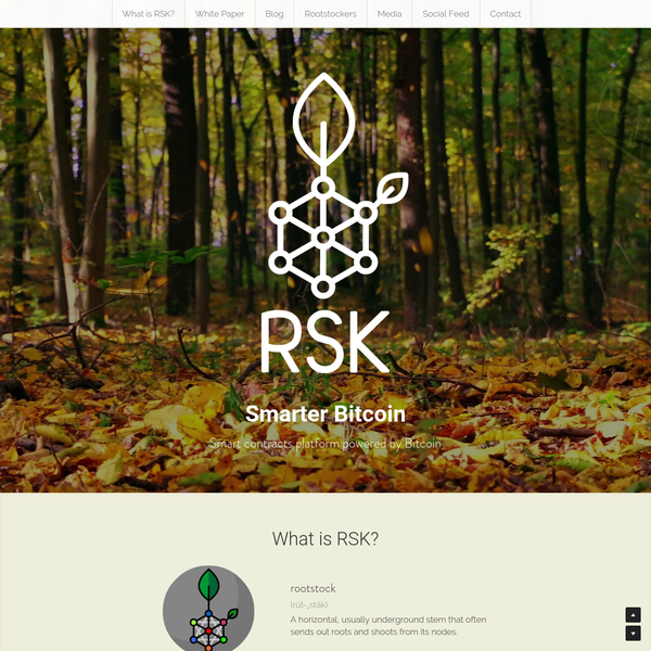 RSK is the first open-source smart contract platform with a 2-way peg to Bitcoin that also rewards the Bitcoin miners via merge-mining, allowing them to actively participate in the Smart Contract revolution. RSK goal is to add value and functionality to the Bitcoin ecosystem by enabling smart-contracts, near instant payments and higher-scalability.