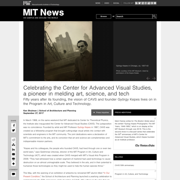 Celebrating the Center for Advanced Visual Studies, a pioneer in melding art, science, and tech