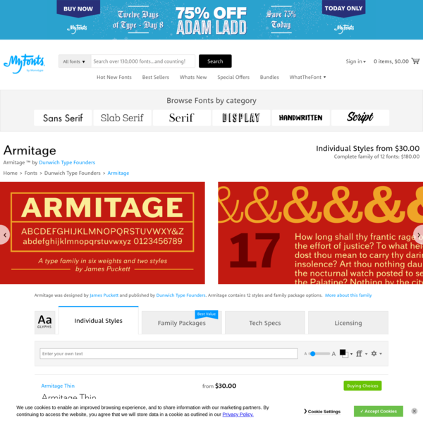 Font Family Page