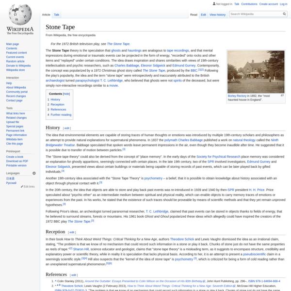 Stone Tape - Wikipedia