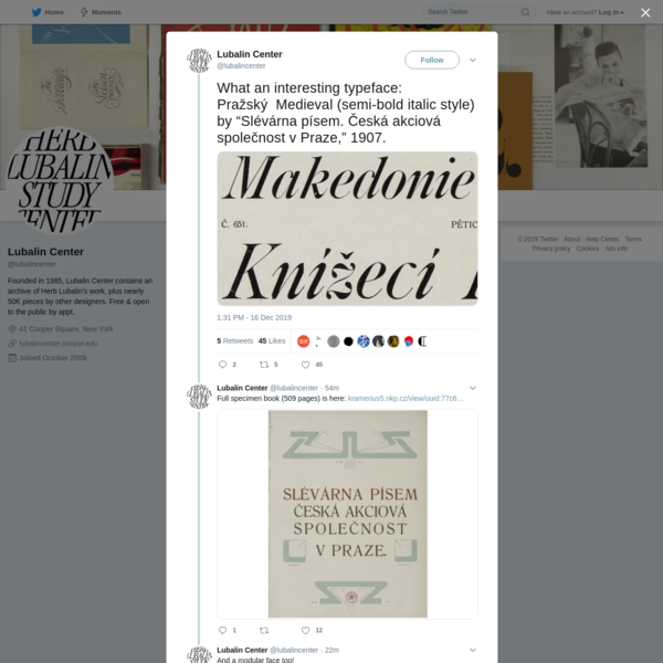 Lubalin Center on Twitter