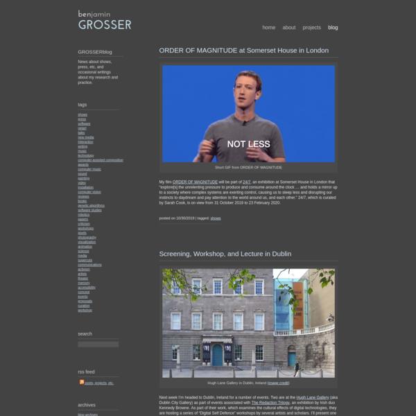 blog | benjamin grosser