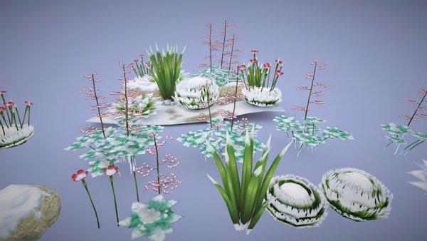 【Game Ready】 Bitbot Plants - Winter