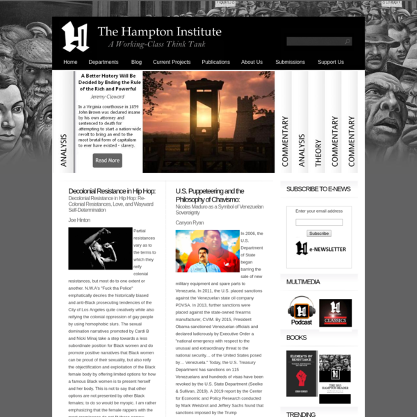 The Hampton Institute: A Working-Class Think Tank