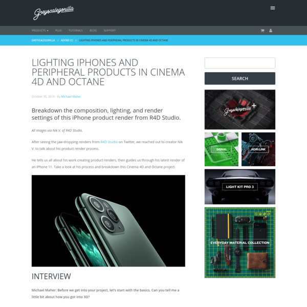 Lighting iPhones and Peripheral Products in Cinema 4D and Octane