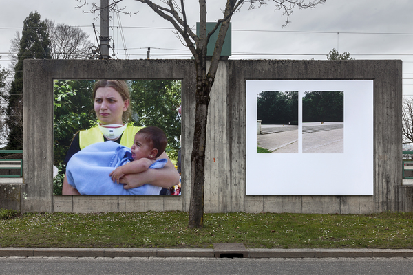 left: teresa in serbia; right: diptych (shelter), both 2016
