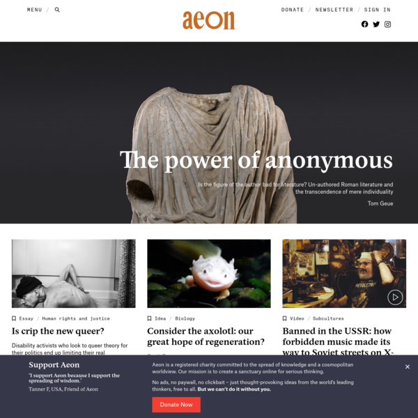 Aeon | a world of ideas
