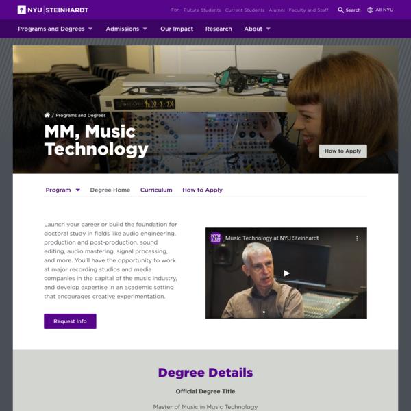 MM, Music Technology