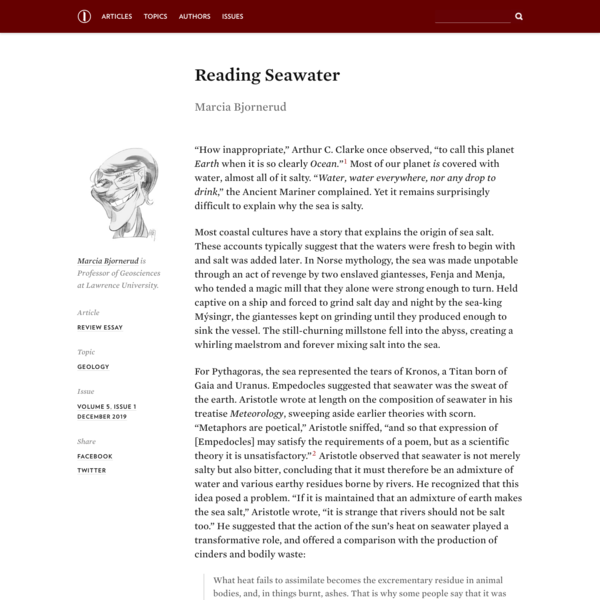 Reading Seawater - Marcia Bjornerud - Inference