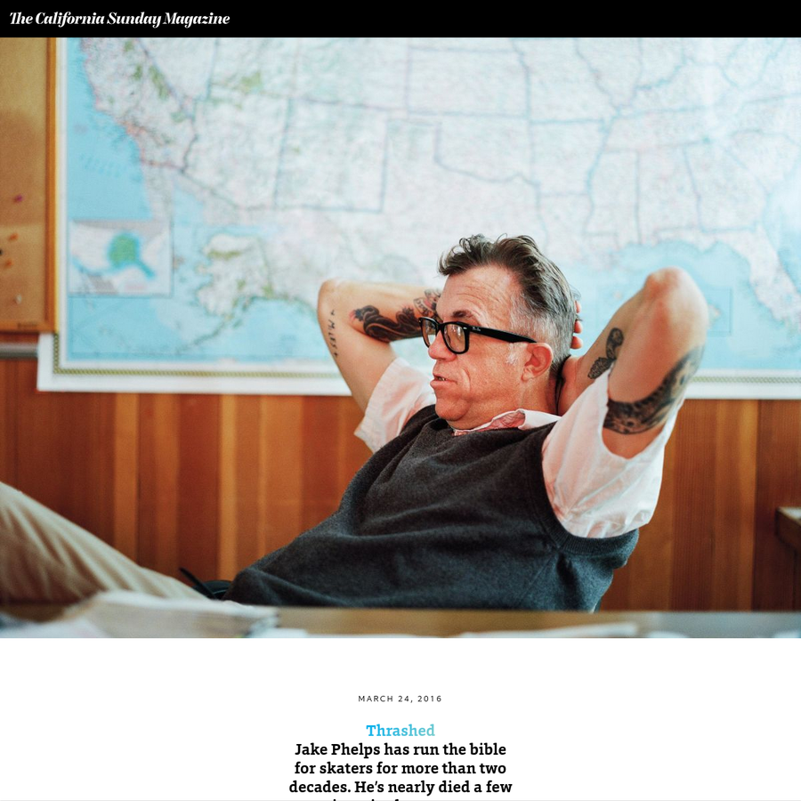 I had spent only a few minutes with Jake Phelps before someone called him an asshole. It was a balmy October morning in San Francisco, at the tail end of the city's reliably tardy summer.