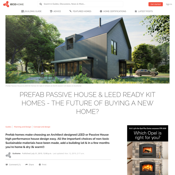 Prefab Passive House & LEED Kit Homes for Sale