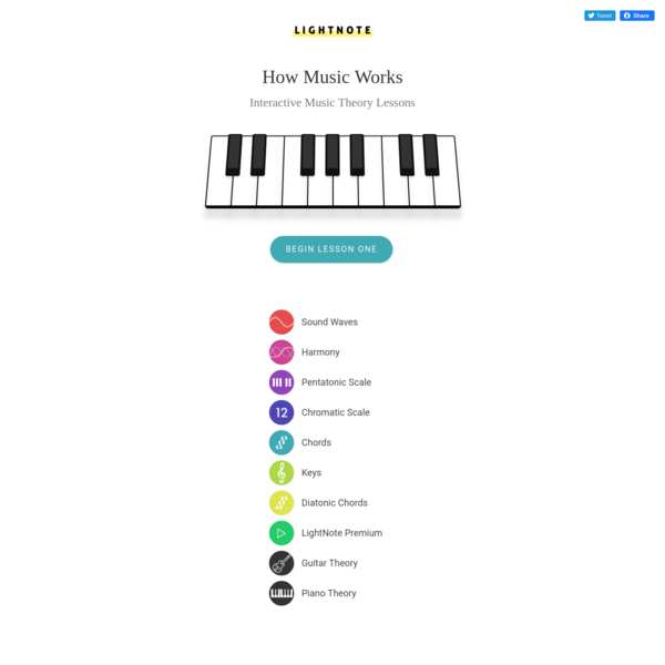 Music Theory Lessons - LightNote