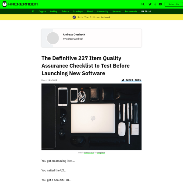 The Definitive 227 Item Quality Assurance Checklist to Test Before Launching New Software