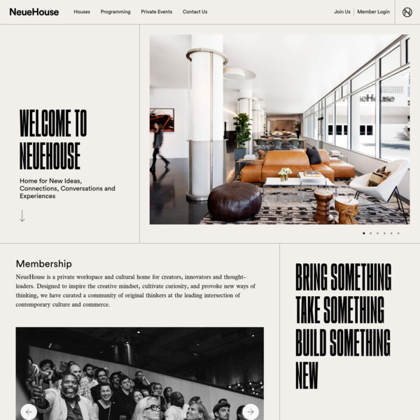 NeueHouse | Home of the New | A Private Workspace