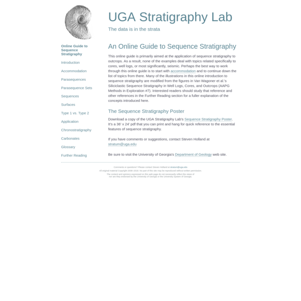 An Online Guide to Sequence Stratigraphy