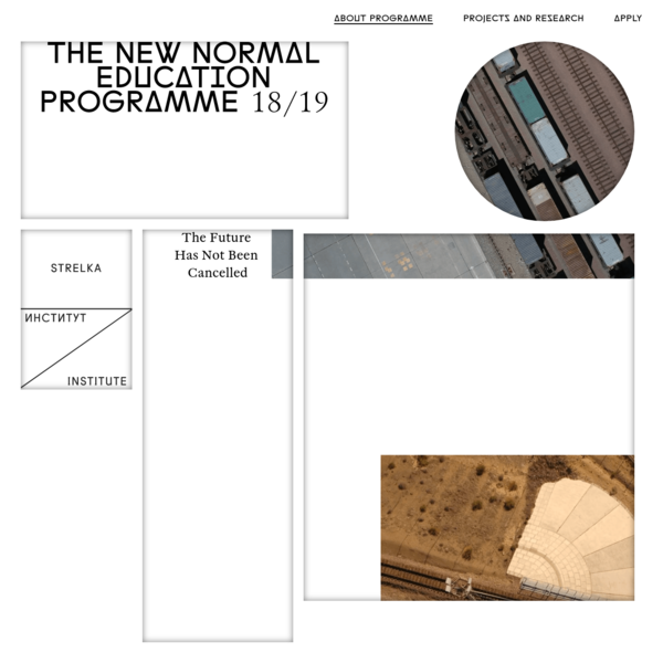 The New Normal - Strelka Institute's education programme 2018/19