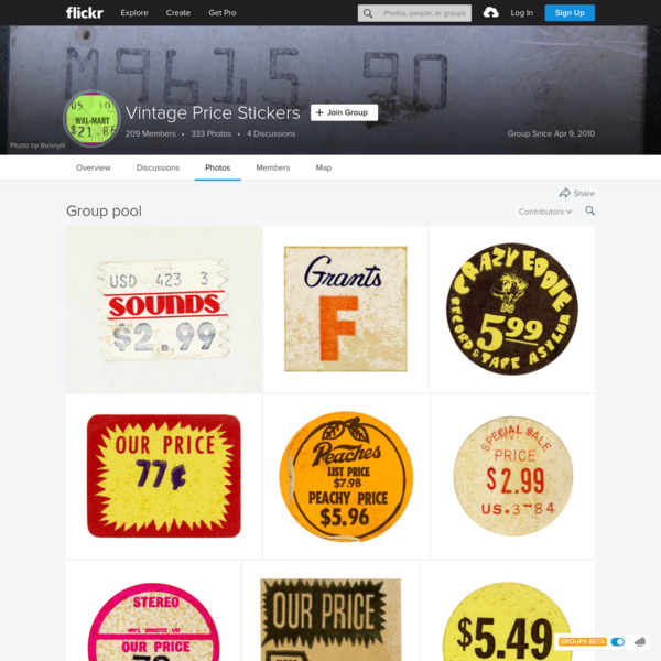 Vintage Price Stickers