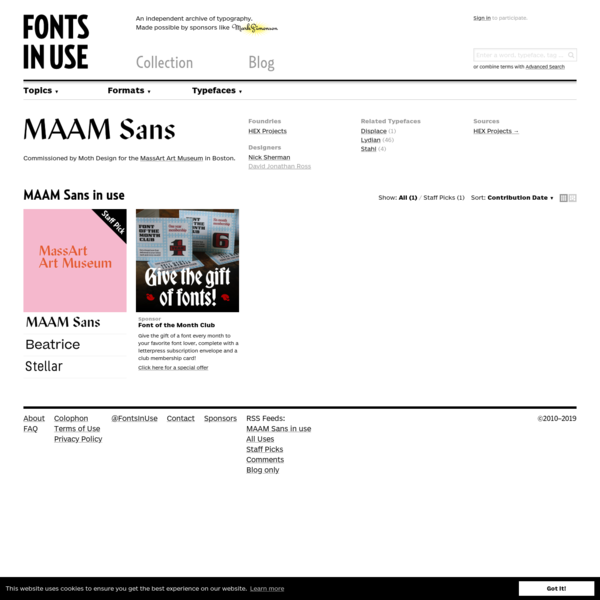 MAAM Sans in use