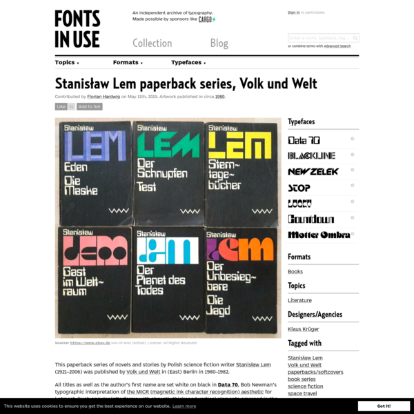 Stanisław Lem paperback series, Volk und Welt