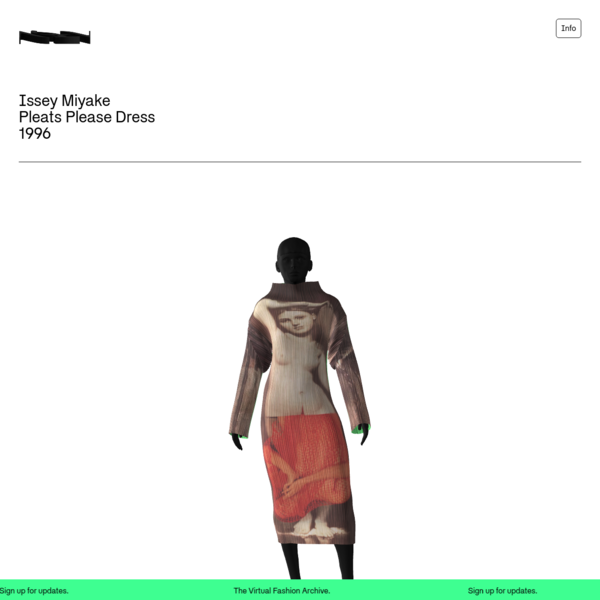 The Virtual Fashion Archive - A collection of archival fashion garments brought to life in new digital dimensions.