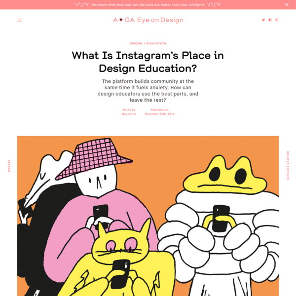 What Is Instagram's Place in Design Education?     Eye on Design