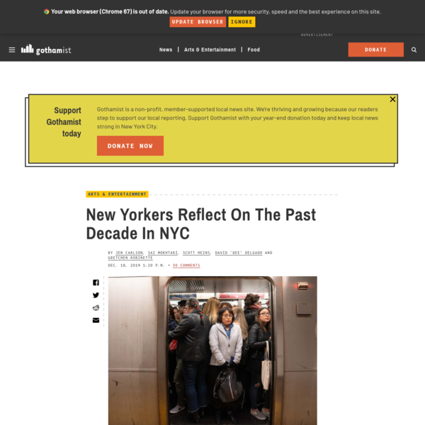 New Yorkers Reflect On The Past Decade In NYC