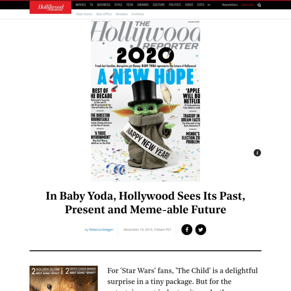 Baby Yoda Represents the Past, Present and Future of Hollywood | Hollywood Reporter