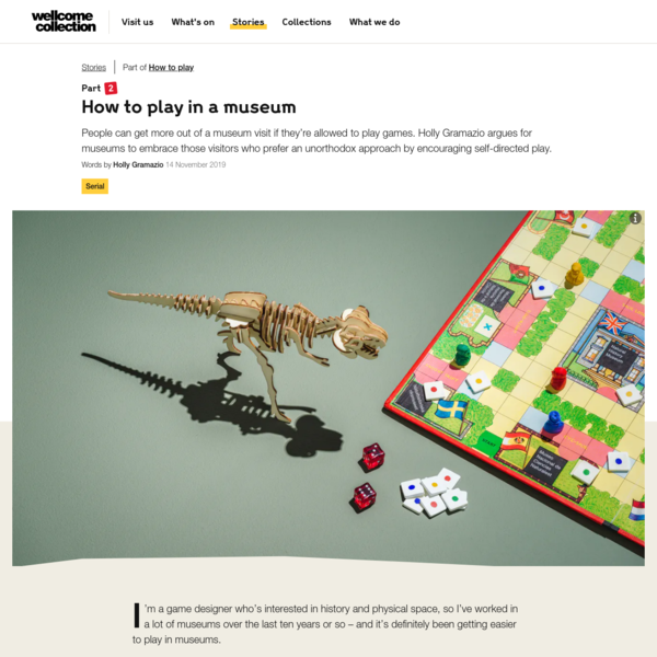 How to play in a museum