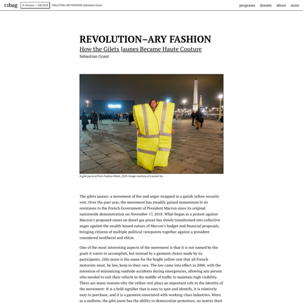 unbag - REVOLUTION–ARY FASHION