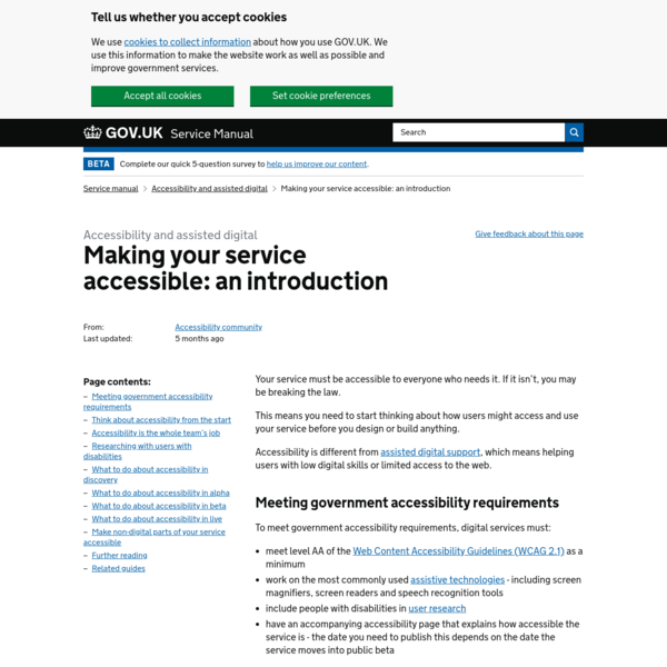 Making your service accessible: an introduction