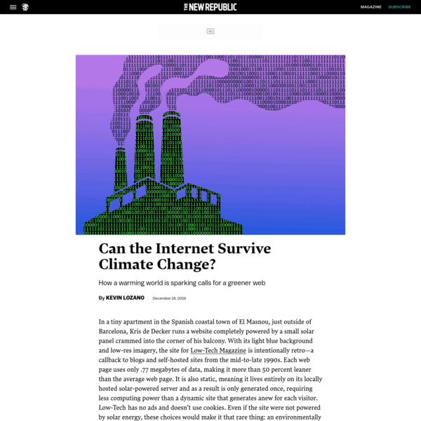 Can the Internet Survive Climate Change?