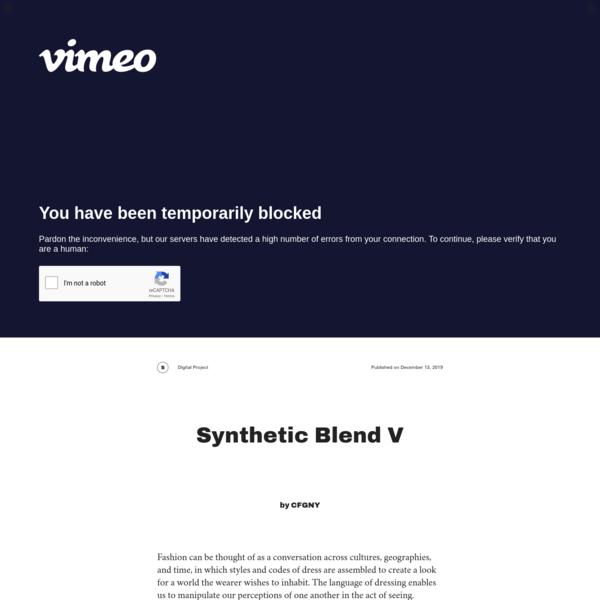 Triple Canopy - Synthetic Blend V by CFGNY