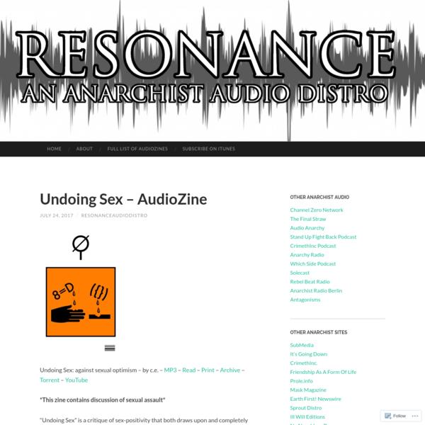 Undoing Sex - AudioZine