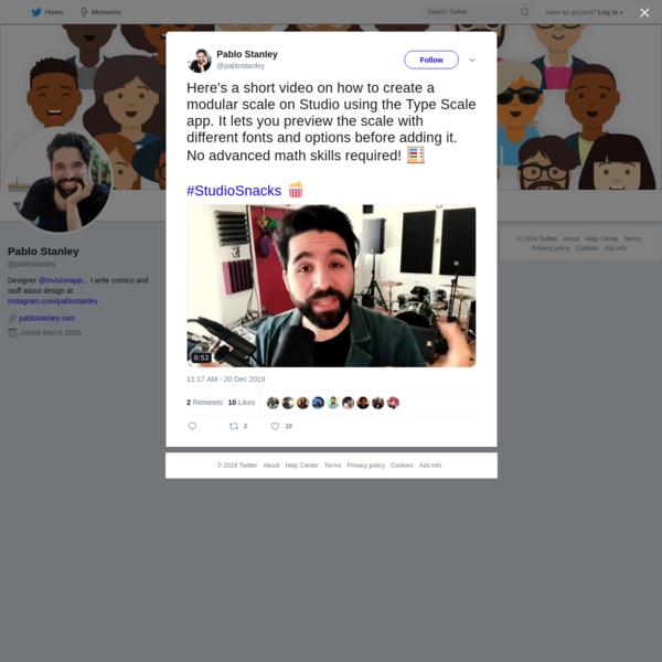 Pablo Stanley on Twitter