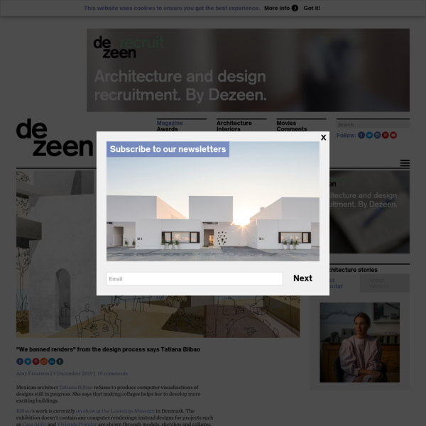 """""""We banned renders"""" from the design process says Tatiana Bilbao"""