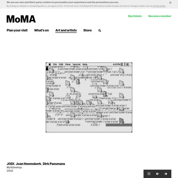 JODI, Joan Heemskerk, Dirk Paesmans. My%Desktop. 2002 | MoMA