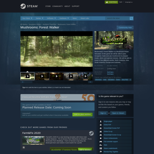 Mushrooms: Forest Walker on Steam