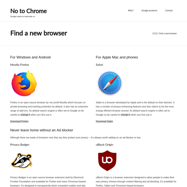 Find a new browser